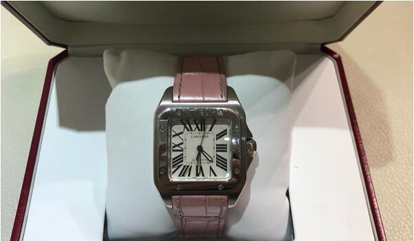 济南回收二手卡地亚山度士手表价格是多少钱呢?