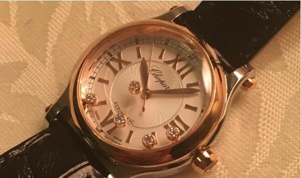 济南哪里回收二手萧邦快乐钻石手表?