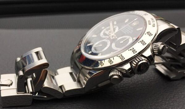 济南劳力士迪通拿系列黑钢迪手表回收价格