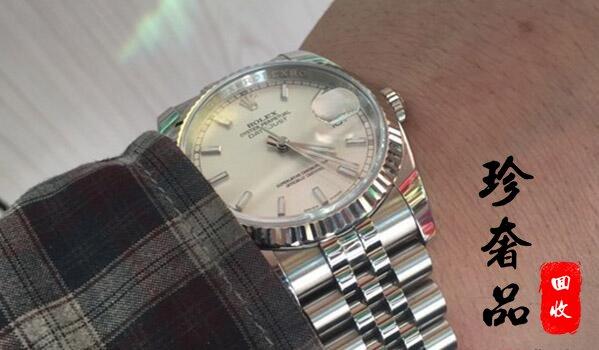 北京二手劳力士日志型16234银盘手表回收价格