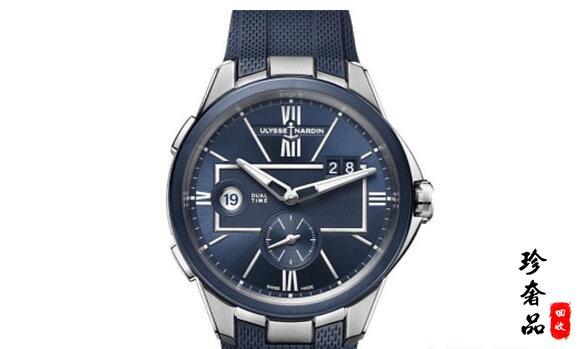 济南雅典经理人系列双时区蓝色手表回收能卖多少钱