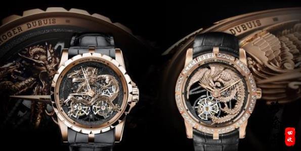 罗杰杜彼Excalibur系列龙和凤凰金雕主题镂空陀飞轮腕表介绍