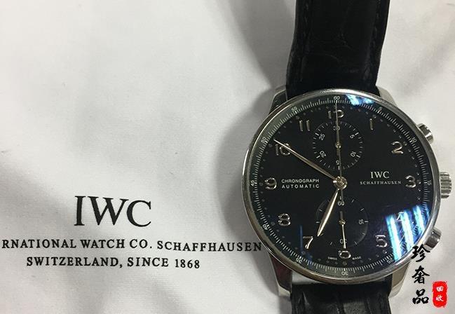 济南二手万国葡萄牙IW371447计时手表回收案例