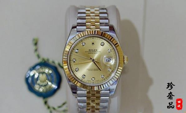 济南劳力士126333日志型系列镶钻手表回收价格能有多少钱
