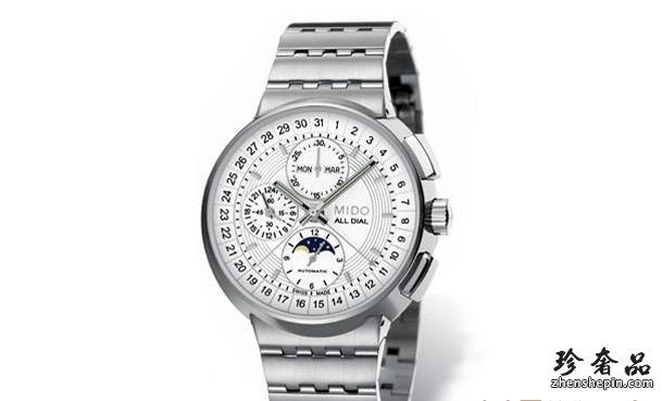 济南美度多功能月相腕表在手表回收店能卖多少钱